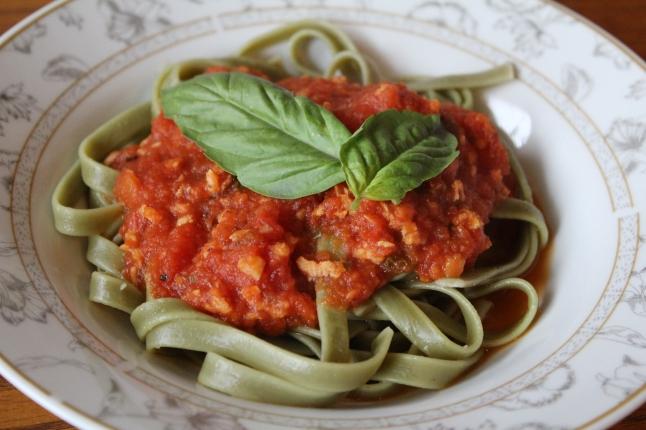 Vegetarian 'Meaty' Spaghetti