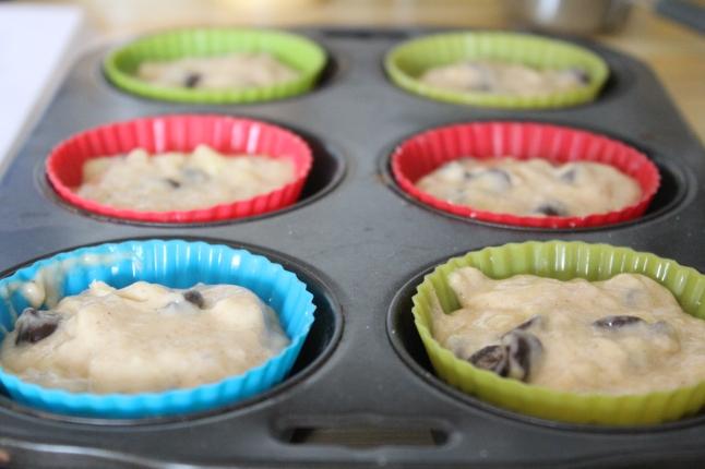 Vegan Banana Chocolate Chip Muffin Batter