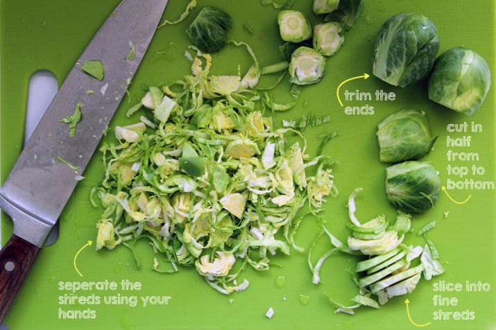 How To Shave Brussels Sprouts